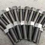 """254smo uns s31254 en1.4547螺栓和螺母1-1 / 2""""-8unx180mm螺紋桿"""