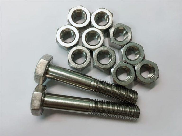 合金20螺栓和螺母不銹鋼緊固件uns n08020
