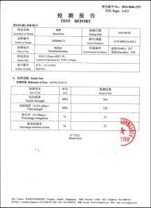 A193 B8M CL2證書