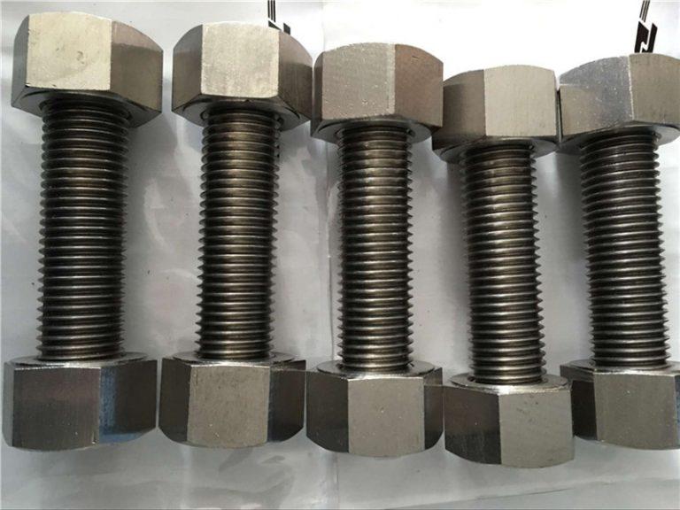 鎳合金400 en2.4360全螺紋桿,帶螺母緊固件