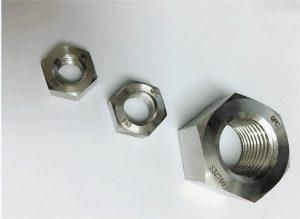 雙相2205 / F55 / 1.4501 / S32760不銹鋼緊固件重型六角螺母M20